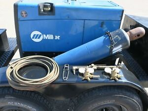 Miller Trailblazer 302 With Welding Equipment Trailer Tanks Not Included