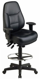Harwick Multi function Leather Drafting Chair