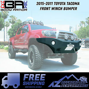 Body Armor 4x4 2005 2011 Toyota Tacoma Front Winch Bumper