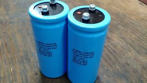 New Cornell Dubilier Dcmc183t200cf2b Capacitor 18 000uf 200vdc Lot Of 2ea
