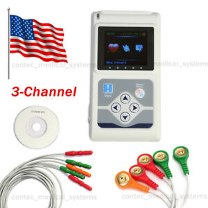 New 24hrs Recorder 3 Channel 3 lead Ecg Holter Monitor Software Analyzer Systems