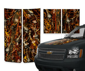 Chevy Avalanche Truck Racing Stripes Hood Gate Decals Skull Blaze Camo 2000 06