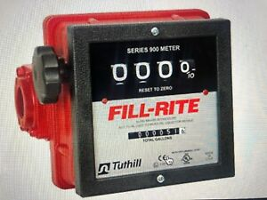 Fill rite Tuthill Model 901c 4 Wheel Mechanical Flow Meter