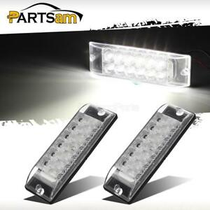 2x White 12 Led Truck Trailer 2 Function Backup Reverse Clearance Lights 8 X2 5