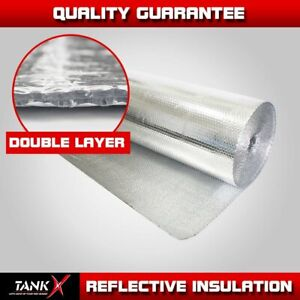 Double Bubble Foil Thermal Insulation Home House Attic Roof Wall Anti Uv Reflect