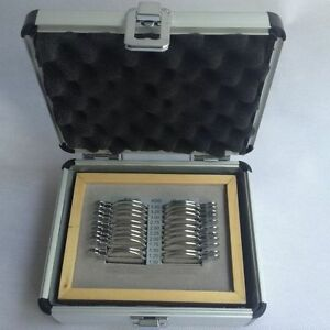 New 22pcs Professional Progressive Trial Lens Set With Aluminum Case