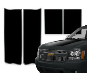 Chevy Avalanche Truck Racing Stripe Rally Decals Black Matte Pinstripe 2000 2006