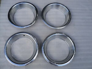 Mopar Original 15 X 7 Rally Wheel Trim Rings 426 Hemi 440 Six Pack Cuda