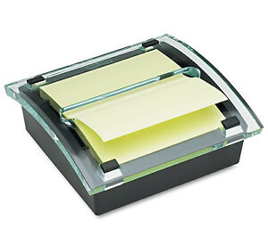 3x3 Post it Dispenser Clear Top Sticky Self stick Notes Colors Pad Holder By 3m