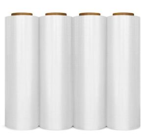 100 Cases 4 Rolls Hand Stretch Wrap Plastic Shrink Film 18 X 1000 80 Gauge