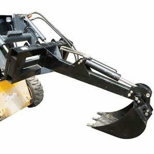 Skid Steer Backhoe W 14 Bucket Excavator Attachment Bobcat Front Loader Titan