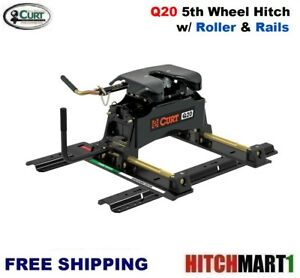 Q20 Curt 5th Wheel Trailer Hitch With Roller Rails 16636