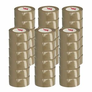 Brown tan Carton Sealing Hotmelt Packing Tape 1 6 Mil 2 X 55 Yards 36 Rolls