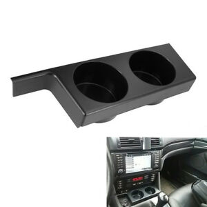 Double Cup Holder Center Console Drinking Cup Black For Bmw 5 Series E39 E5b6