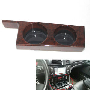 1pc Double Cup Holder Center Console Peach Wood Grain For Bmw 5 Series E39 U6d0