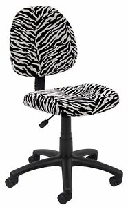 Boss Office Products Zebra Perfect Posture Delubye Modern Home Office Chair W