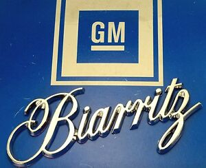 New Biarritz 79 85 Chrome Trunk Script Nos Emblem 86 91 Ornament E