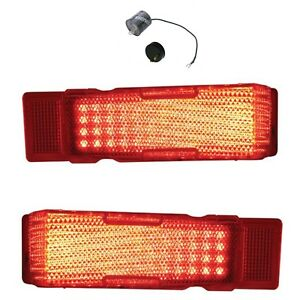 United Pacific 1968 Chevrolet Chevelle Tail Lamp Light Set With Led Flasher