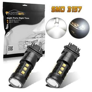 3156 3157 Reverse Light White 75w High Power Led Bulb Backup 1000 Lumen