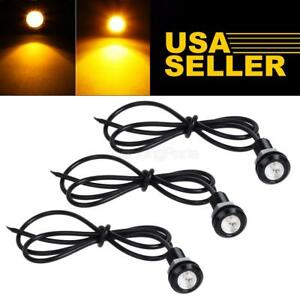 3x Usa Amber Led Clearance Grille Light Kit For Car Truck Suv Trailer Pickup