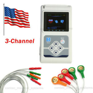 Promotion Tlc5007 Fda 24hrs 3 lead Holter Ecg Recorder Monitor Software Analyzer