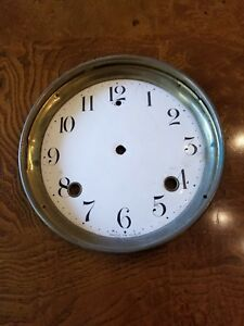 Old Clock Face Seems To Be Enamel See My Others Clock Faces In Collection Nice
