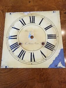 Old Tin Clock Face New Haven Conn See My Others Clock Faces In Collection Nice