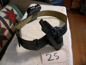 Safariland Police Duty Belt Rig Size 40 With Lh Holster And Pouches