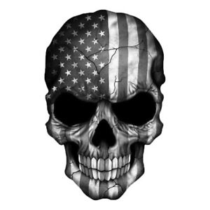 Skull American Flag Decal Sticker 3m Usa Truck Bike Helmet Vehicle Window Wall