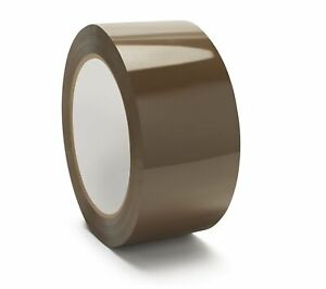 Premium Brown tan Hotmelt Packing Tape 2 X 55 Yards 165 1 6 Mil 864 Rolls