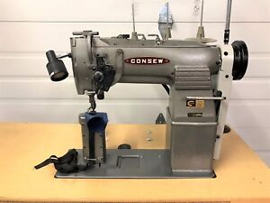 Consew 329 R 1 Split Needle Bar 5 16 Reverse 110 Volt Industrial Sewing Machine