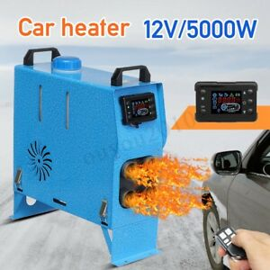 12v 5kw Air Diesel Heater All In One Lcd Monitor Planar For Trucks Boats Bus Car
