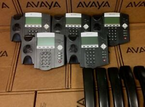 Lot Of 5 Polycom Soundpoint Ip 450 Ip450 2201 12450 001 Office Business Phone