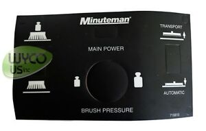 Main Dash Decal Label Minuteman 320 Walk Behind Scrubber New