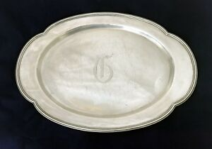 Towle 20 Sterling Silver Tray Oval Large Circa 1908 1483 Gms