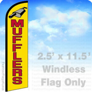 Mufflers Windless Swooper Feather Flag Banner Sign 2 5x11 5 Yf