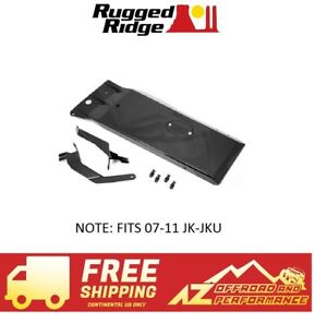 Rugged Ridge Engine Transmission Skid Plate 07 11 Jeep Wrangler Jk Jku Black