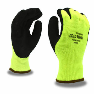 Cordova 3999 Cold Snap Gloves 7 Gauge Thermal Liner Rough Latex Grip S xl