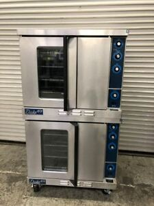 Full Size Double Stack Gas Convection Oven Duke 613 9196 Restaurant Bakery Nsf