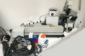 Olympus Ix70 Inverted Fluorescence Microscope Laser Head Power Supply Light