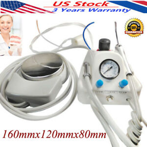 Dental Lab Portable Air Turbine Unit Fit Compressor 4holes Handpiece With Syring