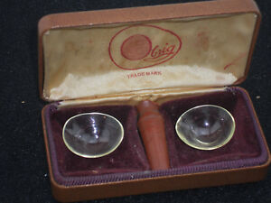 Vintage Museum Pair Of Hard Contact Lens And Case By Obrig