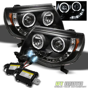 8000k Slim Xenon Hid For 05 11 Tacoma Projector Blk Headlights Daytime Running