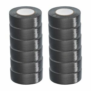 2 X 60 Yards Duct Tape 9 Mil Utility Grade Black Waterproof Tapes 96 Rolls