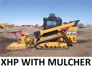 Mulcher Included 2014 Caterpillar 299d Xhp Heat Air Track Skid Steer Loader Cat