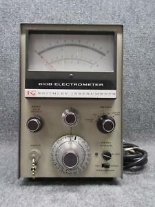 Vintage Keithley Instruments Model 610b Multi range Electrometer tested Working