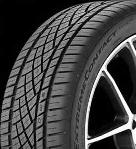 2254517 225 45r17 Continental Extreme Contact Dws06 91w Blk New Tire Qty 4