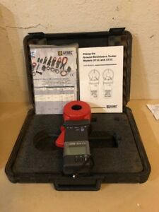 Aemc 3711 Clamp on Ground Resistance Tester W Hard Case Manual used