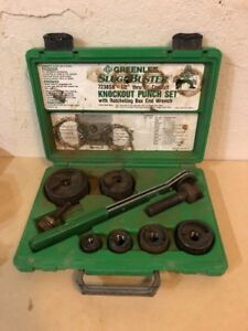 Greenlee 7238sb Slug buster Knockout Punch Set 1 2 2 Conduit used
