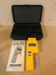 Delmhorst J lite Wood Moisture Meter W Extra Pins Case Manual used